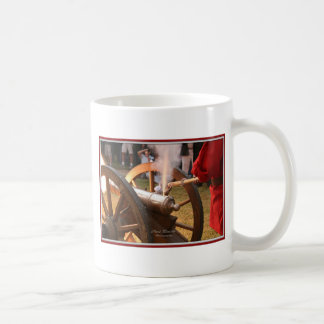 Canon firing 011010 framed coffee mug