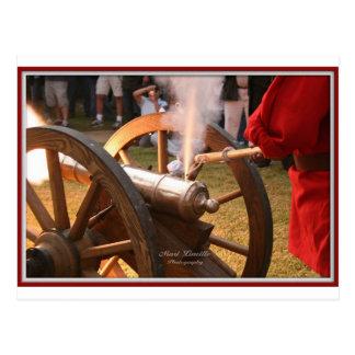 Canon firing 011010 framed postcard