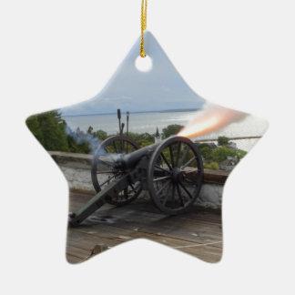 Canon Firing Ceramic Ornament