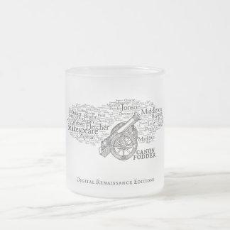 Canon-fodder (mug) frosted glass coffee mug