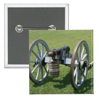 Canon II de S. Augustine Fort contra hierba Pin Cuadrada 5 Cm