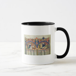 Canon of the Evangelists detail depicting Mug