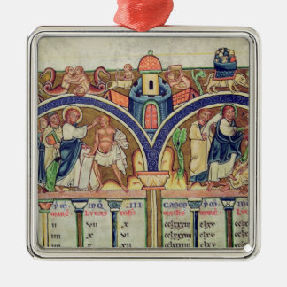 Canon of the Evangelists detail depicting Christmas Tree Ornaments