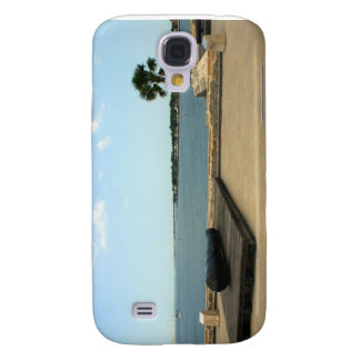 Canon on platform over inlet in St. Augustine Samsung Galaxy S4 Case