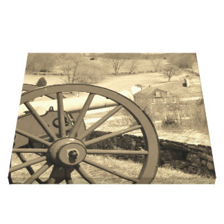 canon on the hill canvas print