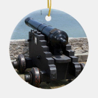 Canon over castle wall christmas tree ornaments