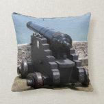 Canon over castle wall throw pillow