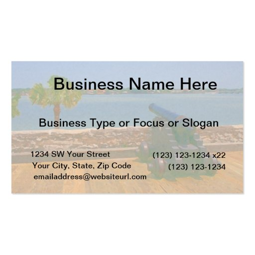 Canon over inlet painting Double-Sided standard business cards (Pack of 100)