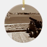 Canon over inlet sepia 1 christmas ornament