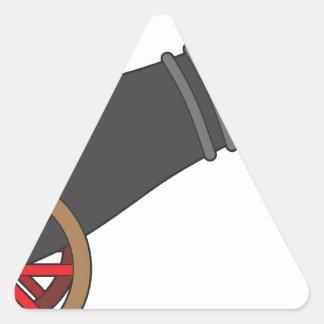 Cañón Pegatina Triangular