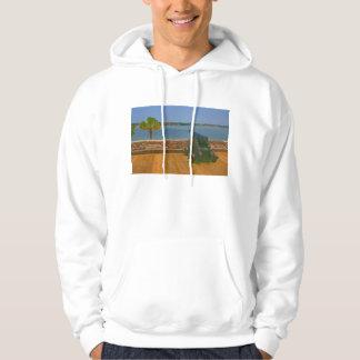 Canon sobre la pintura de la entrada suéter con capucha
