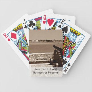 Canon sobre la sepia 1 de la entrada baraja de cartas