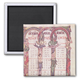 Canon tables of the Evangelists 2 Inch Square Magnet