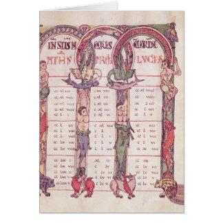 Canon tables of the Evangelists Card