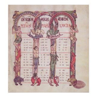 Canon tables of the Evangelists Poster