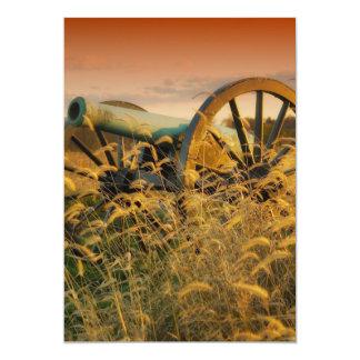 """Cañón viejo en Antietam Invitación 5"""" X 7"""""""