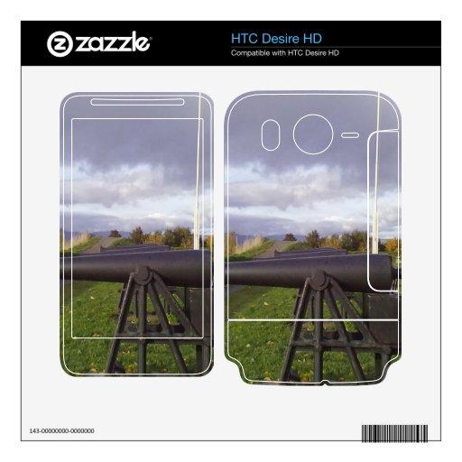 Cañón viejo HTC desire HD calcomanías