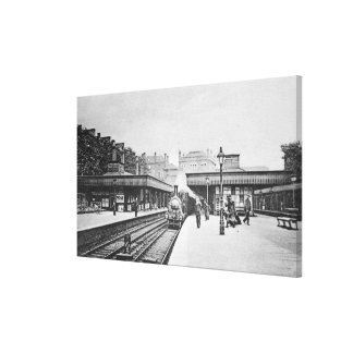 Canonbury Station, Islington, c.1905 Canvas Print