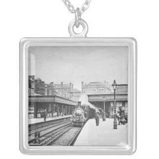 Canonbury Station, Islington, c.1905 Silver Plated Necklace