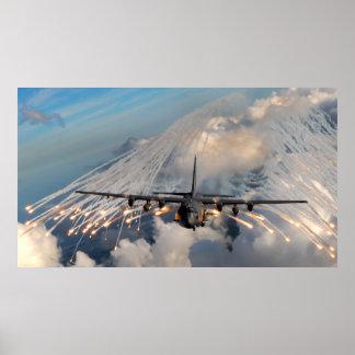 Cañonera de AC-130U Impresiones