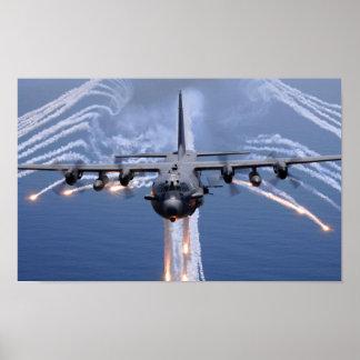 Cañonera del espectro AC-130 Póster
