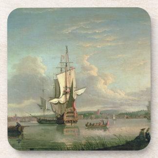 Cañonera en el Thames de Woolwich Posavasos