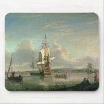 Cañonera en el Thames de Woolwich Alfombrilla De Ratón