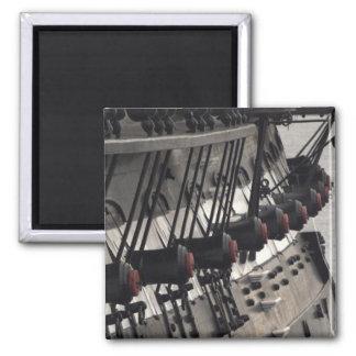 Cañones del estribor de la constitución de USS Imán Cuadrado