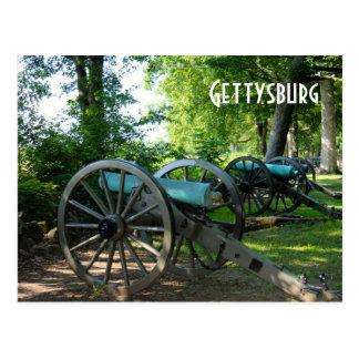 Cañones del parque militar nacional de Gettysburg Postales