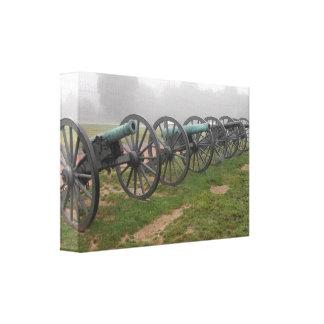 Cañones en el campo de batalla de Antietam de la i Impresión En Lienzo