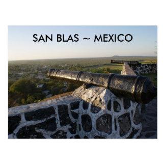 Canones en San Blas México Postales