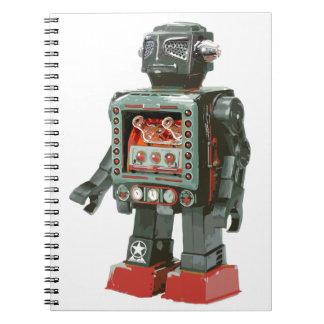 Canones preferidos del robot w del juguete libretas