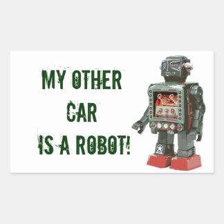 Canones preferidos del robot w del juguete pegatina rectangular
