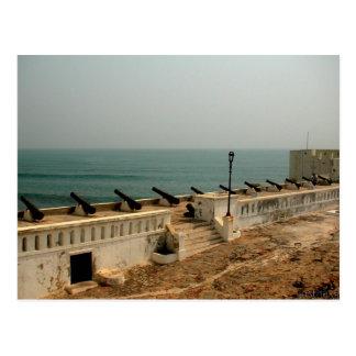 cañones y postal del océano