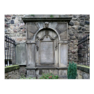 Canongate Grave of Adam Smith Economist Postcard