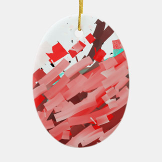 Canons of red, purple and brown ink. ceramic ornament