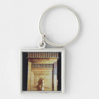 Canopic chest in the form of a shrine set keychain