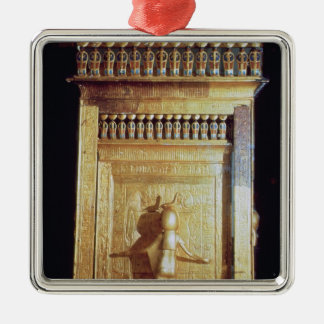 Canopic chest in the form of a shrine set metal ornament