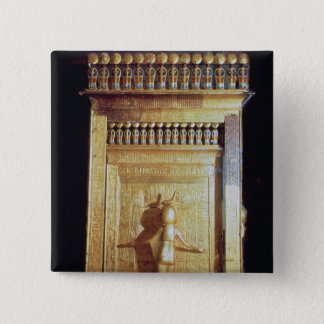 Canopic chest in the form of a shrine set pinback button