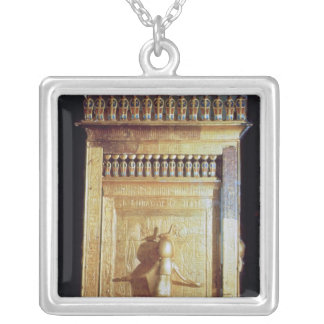Canopic chest in the form of a shrine set silver plated necklace
