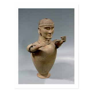 Canopic jar with moveable arms (clay) postcard