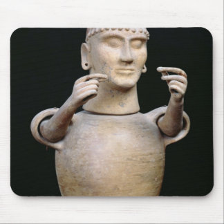 Canopic jar with moveable arms mouse pad