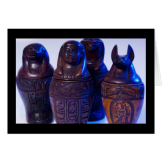 Canopic Jars of Love Greeting Cards