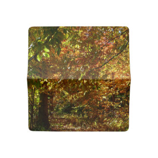 Canopy of Fall Leaves II Yellow Autumn Photography Checkbook Cover