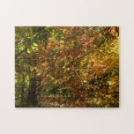 Canopy of Fall Leaves II Yellow Autumn Photography Jigsaw Puzzle