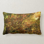 Canopy of Fall Leaves II Yellow Autumn Photography Lumbar Pillow