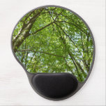 Canopy of Spring Leaves Green Nature Scene Gel Mouse Pad