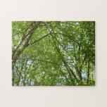 Canopy of Spring Leaves Green Nature Scene Jigsaw Puzzle