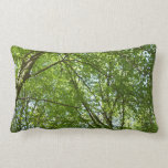 Canopy of Spring Leaves Green Nature Scene Lumbar Pillow
