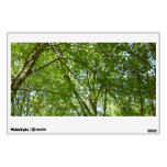 Canopy of Spring Leaves Green Nature Scene Wall Sticker